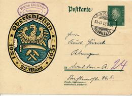 ALTENBERG   - 1931 , Ebert  - Oerschlesien  1921 - 1931 - Ganzsachen