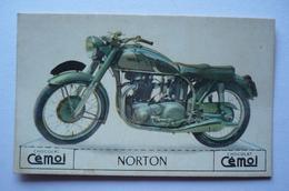 MOTO ANCIENNE NORTON - IMAGE  CARTON CHOCOLAT CEMOI - Motorbikes