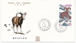 TAAF - Enveloppe FDC - 0,70 Mouflon - Alfred-Faure Crozet - 1-1-1985 - FDC