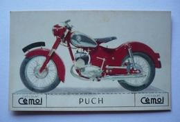 MOTO ANCIENNE PUCH - IMAGE  CARTON CHOCOLAT CEMOI - Motorbikes