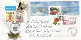 Voiture Tatra Au Passage à Niveau, Sur Lettre Rep. Tchèque, Adressée Andorra, Avec Timbre à Date Arrivée, 2019 - Voitures
