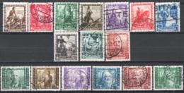 Italia Regno 1938 Sass.439/48+A111/16 O/Used VF/F - Usati