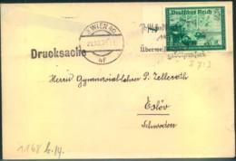 1939, 5 Pfg. Postgewerkschaft Auf Auslandsdrucksache Ab WIEN - Ostmark - Briefe U. Dokumente