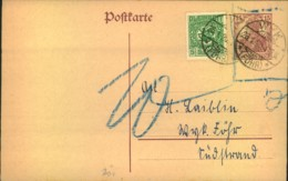 1920, 15 Pfg. Germania GSK Mit 5 Pffg. Schleswig. Nachporto Da Vorläufer Nicht Mehr Gültig - Alemania