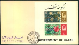 1966, QUATAR Kosmos-Block FDC - Qatar