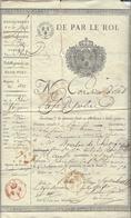 BOURLON DE CHEVIGNE DE MONCEY  1780 Cruas 1863 Passe -port Pour Se Rendre à Ham .2.9.1815 Sous Contrôle Prussien - Manuscritos