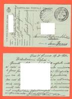 1 WW Finanza Brigadiere XVI° Battaglione Frontiera Zona Di Guerra 1916 X San Rermo Cartolina Postale Ad Uso FRANCHIGIA - 1900-44 Victor Emmanuel III