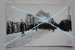 Photo ABL BASTOGNE Défilé Remise Du Drapeau 3ème Compagnie / 1er De Ligne Ardenne Luxembourg Armée Belge - War, Military