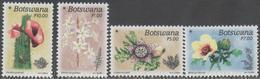 BOTSWANA, 2017, MNH, DESERT FLOWERS, CACTUS,4v - Plants