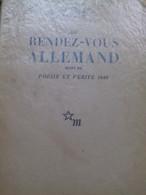Au Rendez Vous Allemand PAUL ELUARD éditions De Minuit 1945 - Poetry