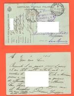 Posta Militare Da Bersagliere 42° Battaglione  Zona Di Guerra  X San Remo 1916 Cartolina Postale Ad Uso  FRANCHIGIA - 1900-44 Vittorio Emanuele III