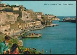 °°° 15062 - MALTA - VALLETTA - GENERAL VIEW - GRAND HARBOUR - 1969 °°° - Malta