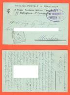 Posta Militare Da XVII° Fanteria 17° Reggimento X San Remo 1915  Cartolina Postale Ad Uso  FRANCHIGIA - 1900-44 Vittorio Emanuele III