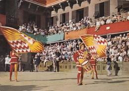 SIENA-PALIO-CONTRADA VAL DI MONTONE-CARTOLINA VERA FOTOGRAFIA- VIAGGIATA IL 18-6-1966 - Siena