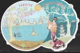 TURKEY,  2019, MNH, RELATIONS WITH JAPAN, COSTUMES, TREES, MOSQUES, S/SHEET - Costumes
