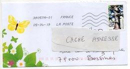 """2019-- Tp  Adhésif  """" Arbre --chêne Pédonculé  """" - Seul Sur Lettre Illustrée  Papillon -- - Marcophilie (Lettres)"""