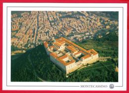 ABBAZIA Di MONTECASSINO -Vue Aérienne Panoramique - Abbaye Du Mont-Cassin * 2 SCANS - Other
