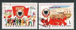 ALBANIA 1981 Anniversary Of People's Republic Used.  Michel 2070-71 - Albanie