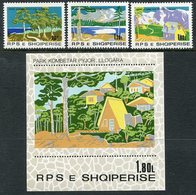ALBANIA 1980 National Parks Set + Block MNH / **.  Michel 2067-70, Block 71 - Albania