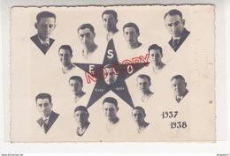Au Plus Rapide Tunisie Carte Photo Montage Etoile Sportive De Ferryville Saision 1937 1938 Photographe L Barraco - Soccer