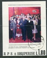 ALBANIA 1980 National Paintings Block Used.  Michel Block 70 - Albanie