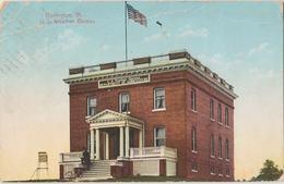 Burlington VT US Weather Bureau Postcard C1910 - Burlington