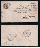 Russia 1868 Postal Stationery Cover 10 Kop. 145x80 Mm Used - 1857-1916 Empire
