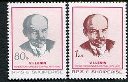 ALBANIA 1980 Lenin Birth Anniversary MNH / **.  Michel 2049-50 - Albania