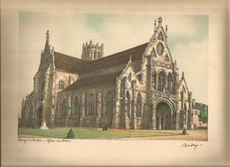 BOURG EN BRESSE - Eglise De Brou    Gravure Signée BARDAY 25 Cm X 33.5 Cm - Estampes & Gravures