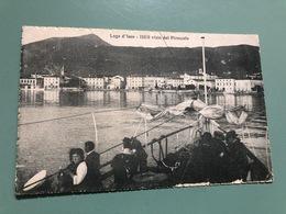 LAGO D'ISEO  ISEO VISTO DAL PIROSCAFO  1918 - Brescia