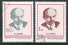 ALBANIA 1980 Lenin Birth Anniversary Used.  Michel 2049-50 - Albanie