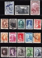 GREECE 1930 Centenary Of Indepence Heroes Used Set Vl. 444 / 461 - Greece