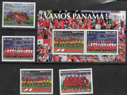 PANAMA, 2019, MNH, FOOTBALL, RUSSIA WORLD CUP 2018, PANAMA TEAM, SUPPORTERS, 4v+S/SHEET - World Cup