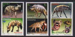 ETHIOPIA , 2019, MNH,  WILDLIFE, HYENAS,  3v - Timbres