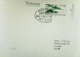 DDR-WU: Ds-Brief Mit DDR-Porto Von 5 Pf Unbeanstandet Mit BahnpostSt. BERLIN-LEIPZIG Zug 0708 Vom 5.7.90 (Ds Normal 70 ) - [6] República Democrática