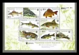 Ukraine 2019 Mih. 1837/44 (Bl.165) Fauna. Freshwater Fishes MNH ** - Ukraine