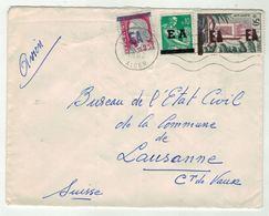 France // Ex-colonie // Algérie Lettre Pour La Suisse - Algérie (1924-1962)