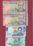 Malawi 7 Billets (200 Et 50 Kwacha En UNC) 5 Dans L 'état Lot N °2 - Malawi