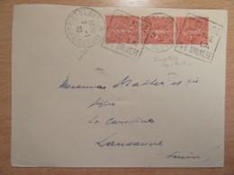 DAGUIN Double Sur Enveloppe Saint Claude Vers Lausanne - 1930 - France