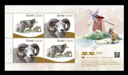 Aland 2014 Mih. 400/01 (Bl.14) Lunar New Year. Year Of The Sheep MNH ** - Aland