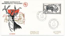 TAAF - Enveloppe FDC - 2,50 Le Renne - Port Aux Français Kerguelen - 1-1-1987 - FDC