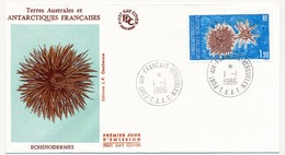 TAAF - Enveloppe FDC - 1,90 Echinodermes - Port Aux Français Kerguelen - 1-1-1986 - FDC