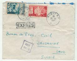 Maro // Lettre Exprès De Rabat Pour La Suisse - Maroc (1956-...)