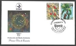 Bolivia - Environmental Protection, FDC, 2004 - Parrots