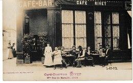 Rhône LYON Carte-photo Café Comptoir Rivet 13 Bis Rue De Marseille (animation) Chamonard Photo - Lyon