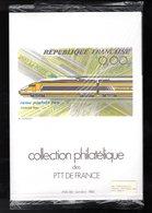 """"""" COLLECTION  DE  FRANCE : ANNEE 1984  4/5 / TGV """" Encore Sous Blister Avec Les Fiches Et Les Timbres Neufs ** Parf état - Francia"""