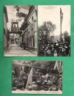 14 Calvados Honfleur Fete Notre Dame De Grace  Lot De 3 Cartes Postales - Honfleur