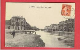 SETE OU CETTE 1916 QUAI DE BOSC RIVE GAUCHE CARTE EN TRES BON ETAT - Sete (Cette)