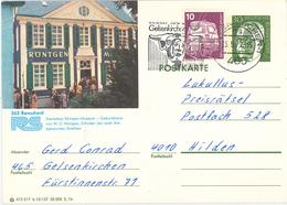 Wilhelm Conrad Röntgen-Strahlen Diagnostik - 465 Gelsenkirchen Ganzsache Röntgen-Museum Heinemann - Rindvieh - Medizin