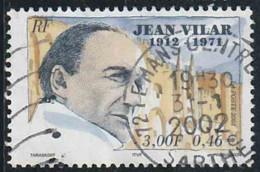 France 2001 Yv. N°3398 - Jean Vilar - Oblitéré - Oblitérés